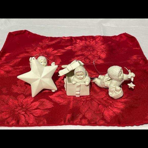 Three Department 56 Snowbabies Ornaments